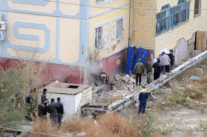 Жилой дом Атырау, вблизи которого взорвал себя террорист