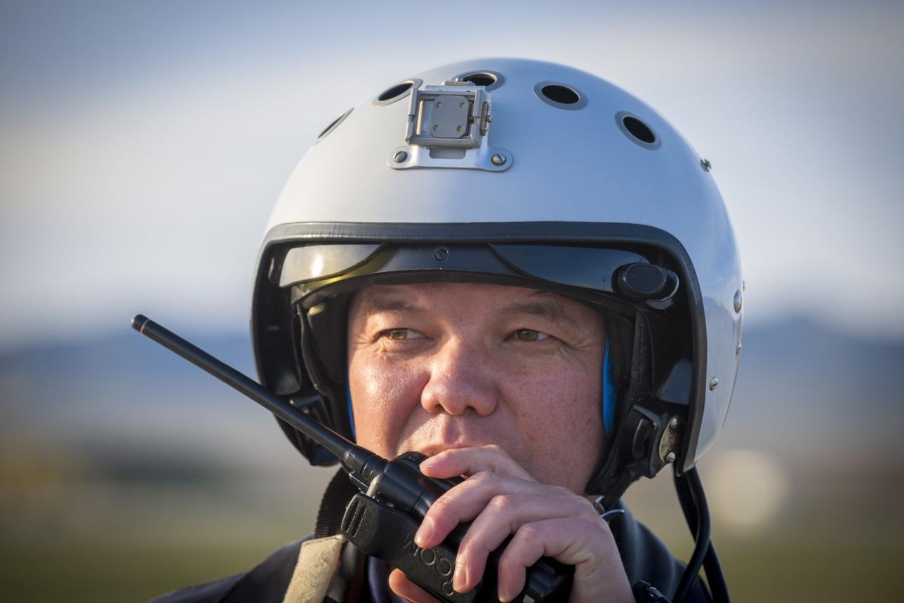 Командир авиабазы полковник Жанибек Жумашев