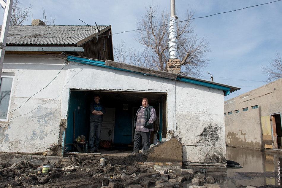 Поселок Кокпекты после наводнения