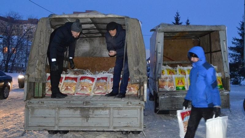 Жители СКО приняли участие в сборе гуманитарной помощи для пострадавших в Шахане