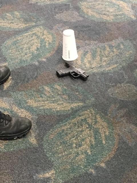 Оружие было задекларировано в аэропорту перед вылетом