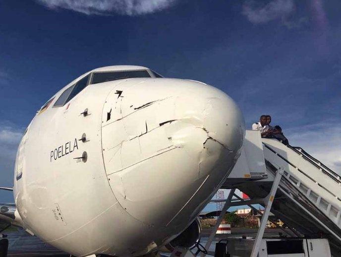 Серьёзные повреждения получил самолёт от столкновения с дроном