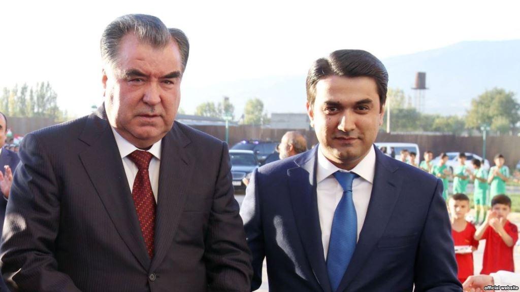 Эмомали Рахмон с сыном Рустамом Эмомали