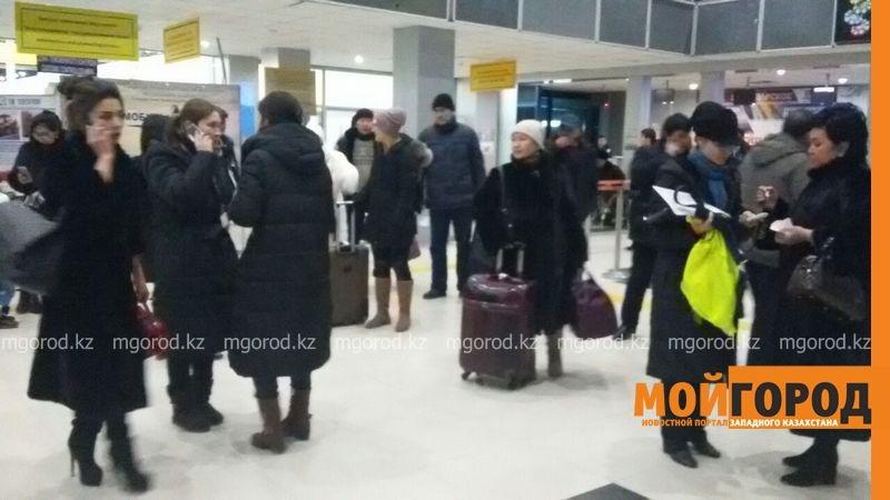 Пассажиры не смогли вылететь из Атырау в Актобе и Шымкент