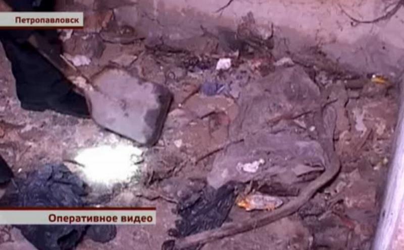 Задержанный показал место, где закопал труп