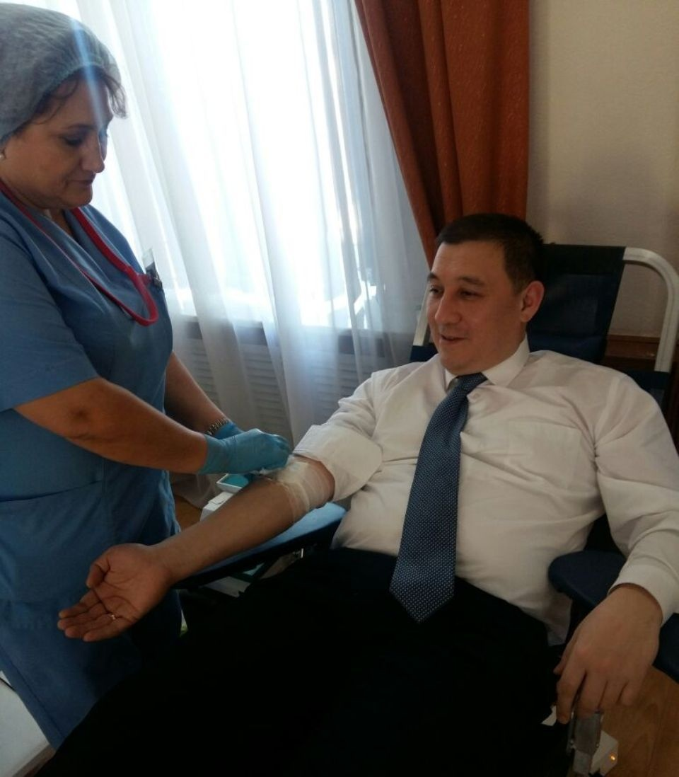 У акима Караганды группа крови распространённая: вторая положительная