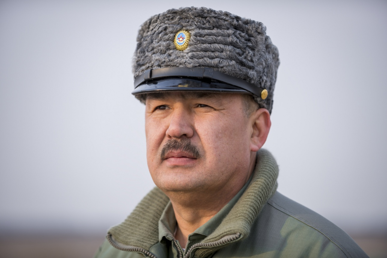 Командир Первомайской авиабазы полковник Нурлан Байдуллаев