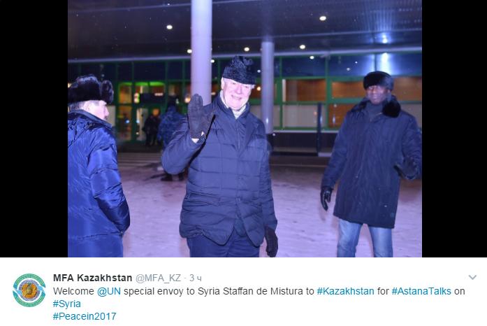 Спецпосланник ООН прибыл в Астану