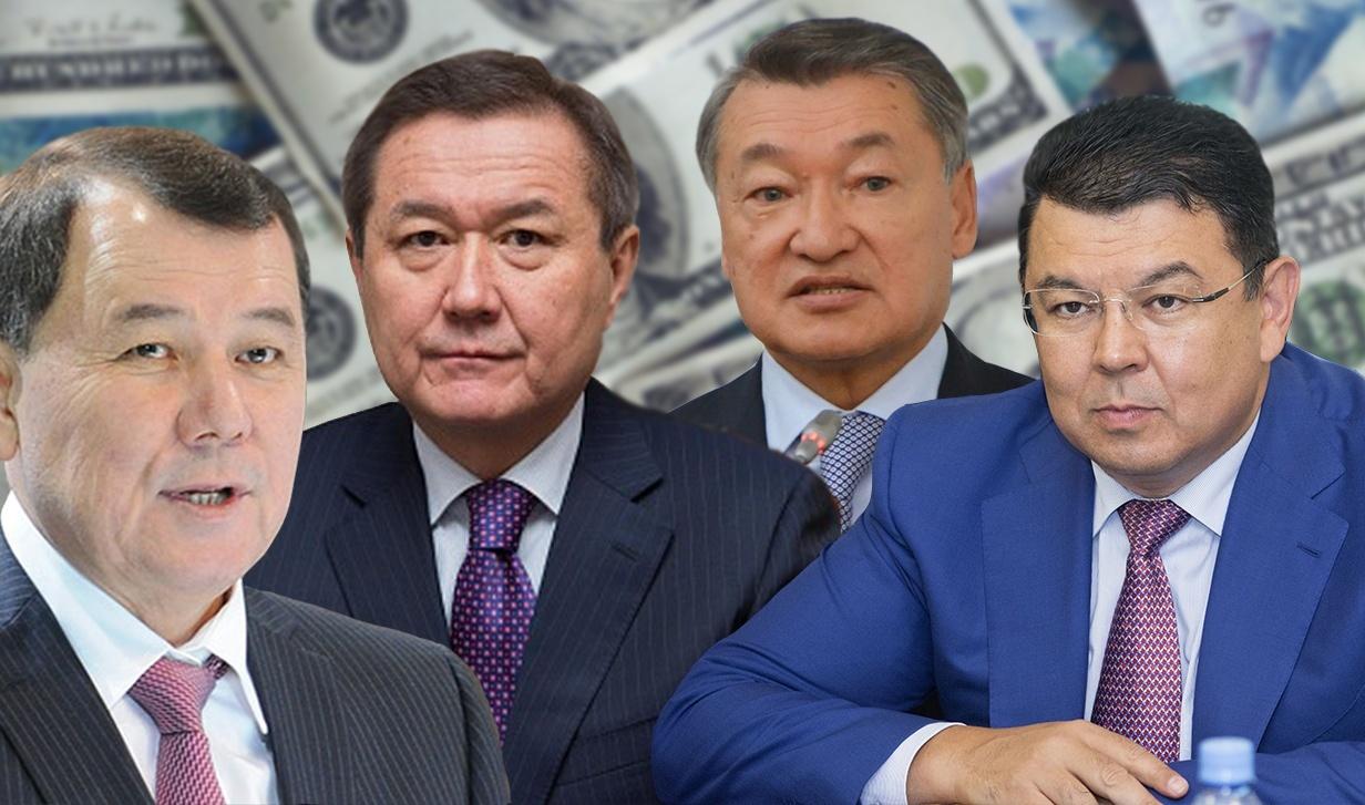 Слева направо: Кокрекбаев, Аманшаев, Ахметов, Бозумбаев