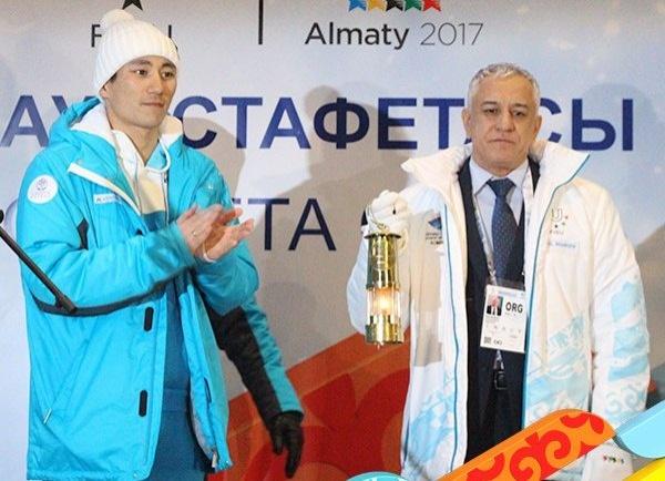 Огонь Универсиады прибыл в Алматы