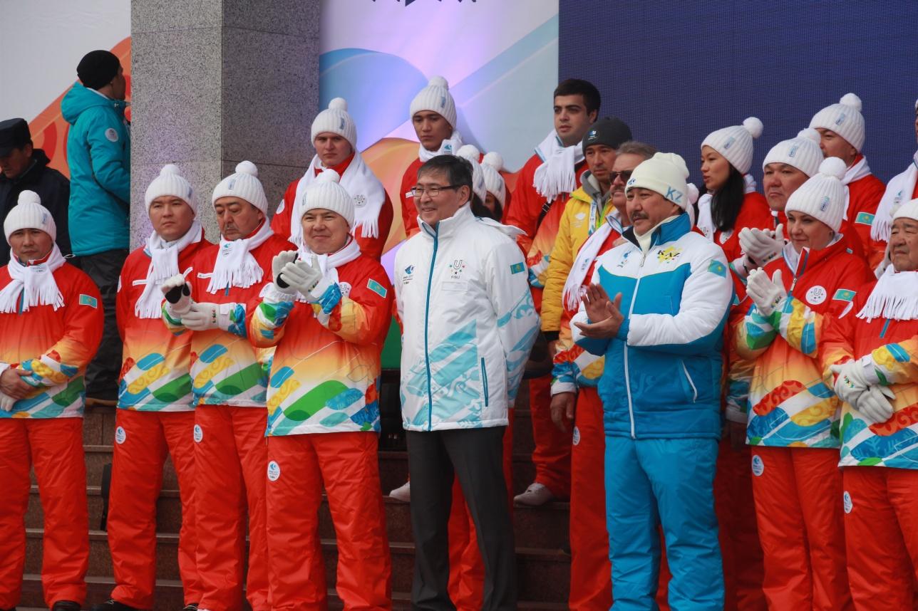 Церемонию зарождения огня посетил министр образования Ерлан Сагадиев