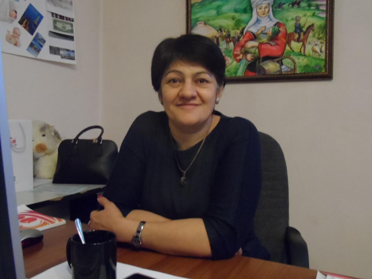 Координатор алматинского Дома мамы Аминат Джаппуева