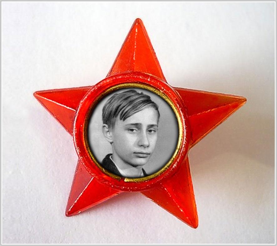 Значок с мальчонкой Путиным