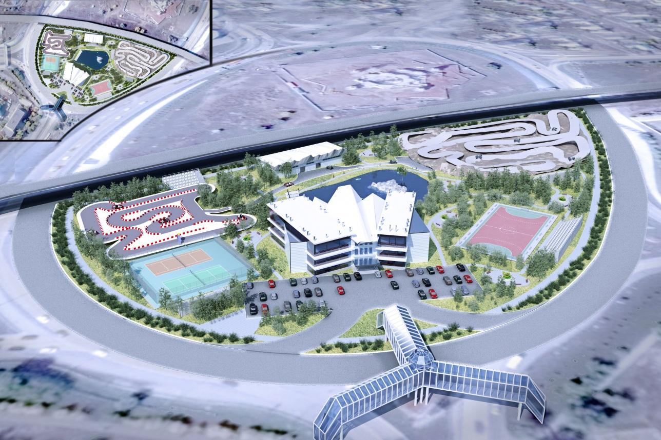 Эскиз проекта спортивного комплекса