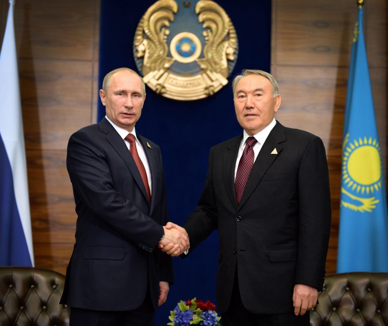 Официальная встреча Назарбаева с Путиным пройдёт в Алматы
