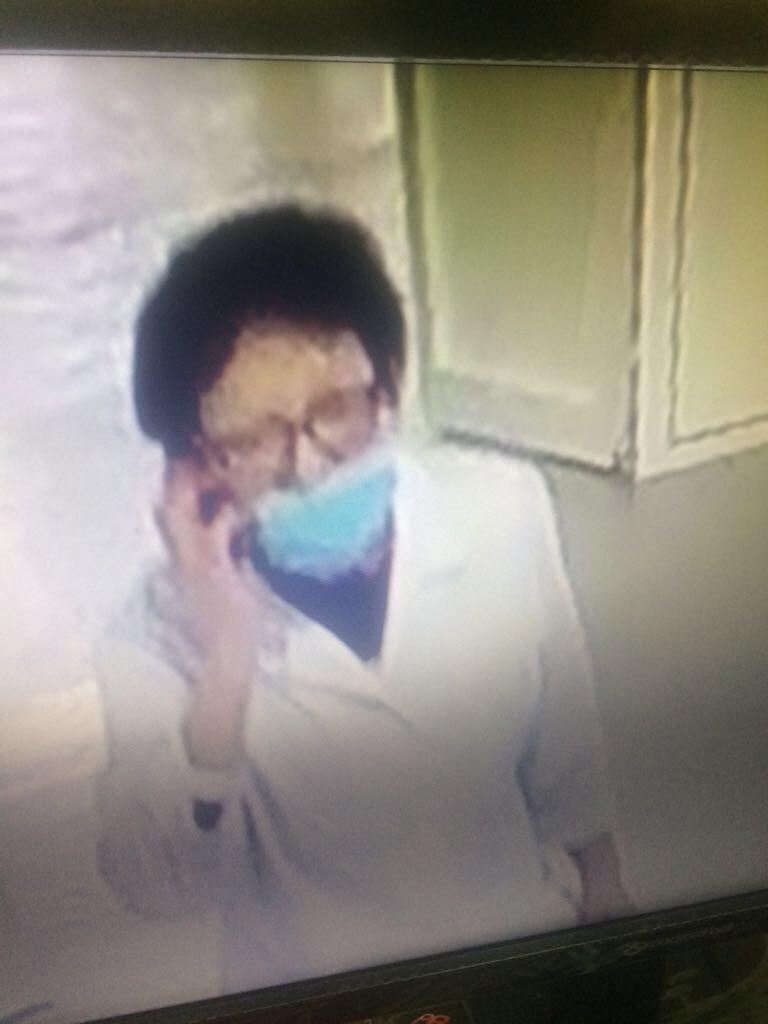Подозреваемая в краже попала на видео