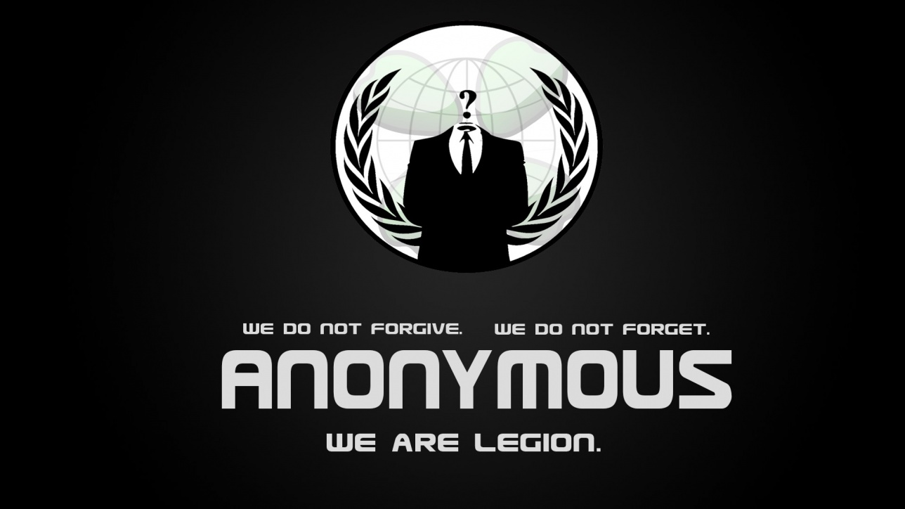 Постер известной группы хакеров Anonymous