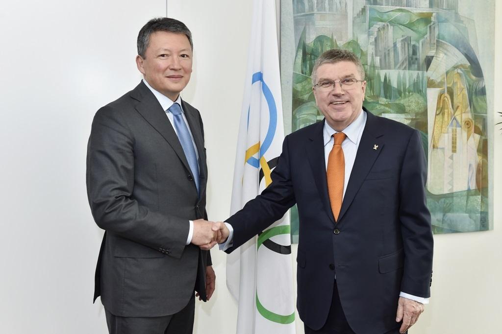 Тимур Кулибаев встретился с президентом Международного Олимпийского комитета