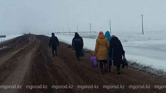 Жители села вынуждены добираться до райцентра пешком