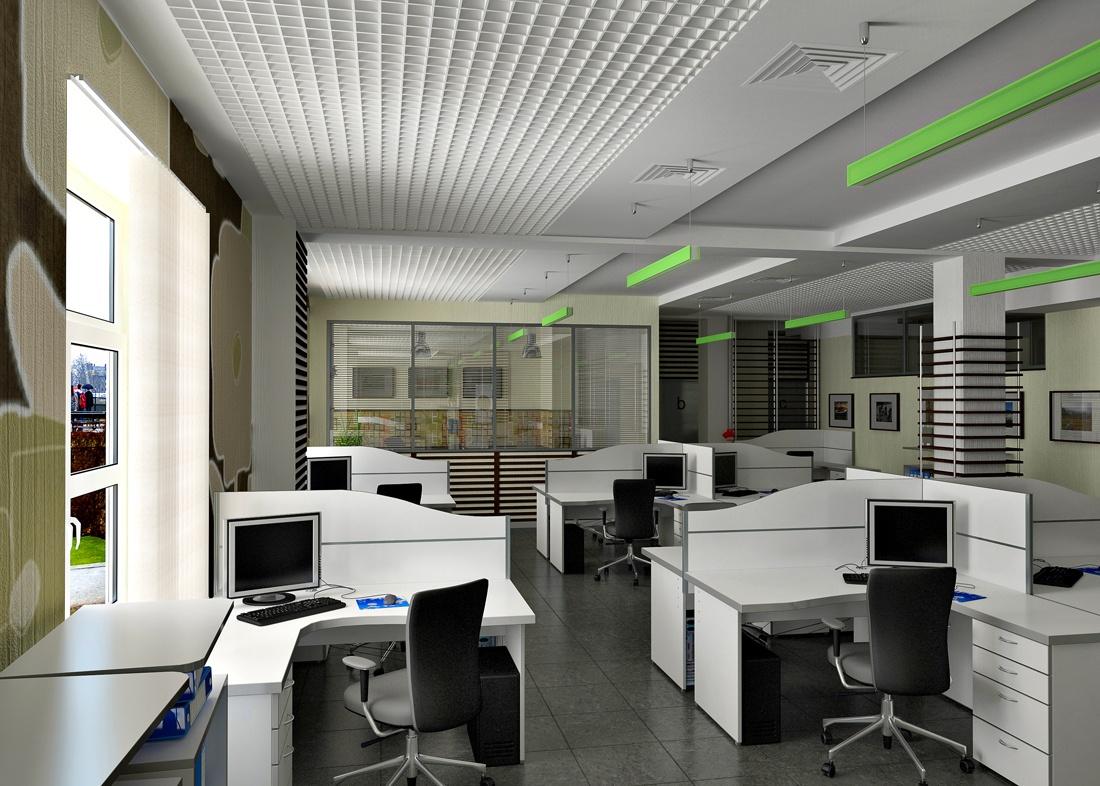 Пустые офисные помещения