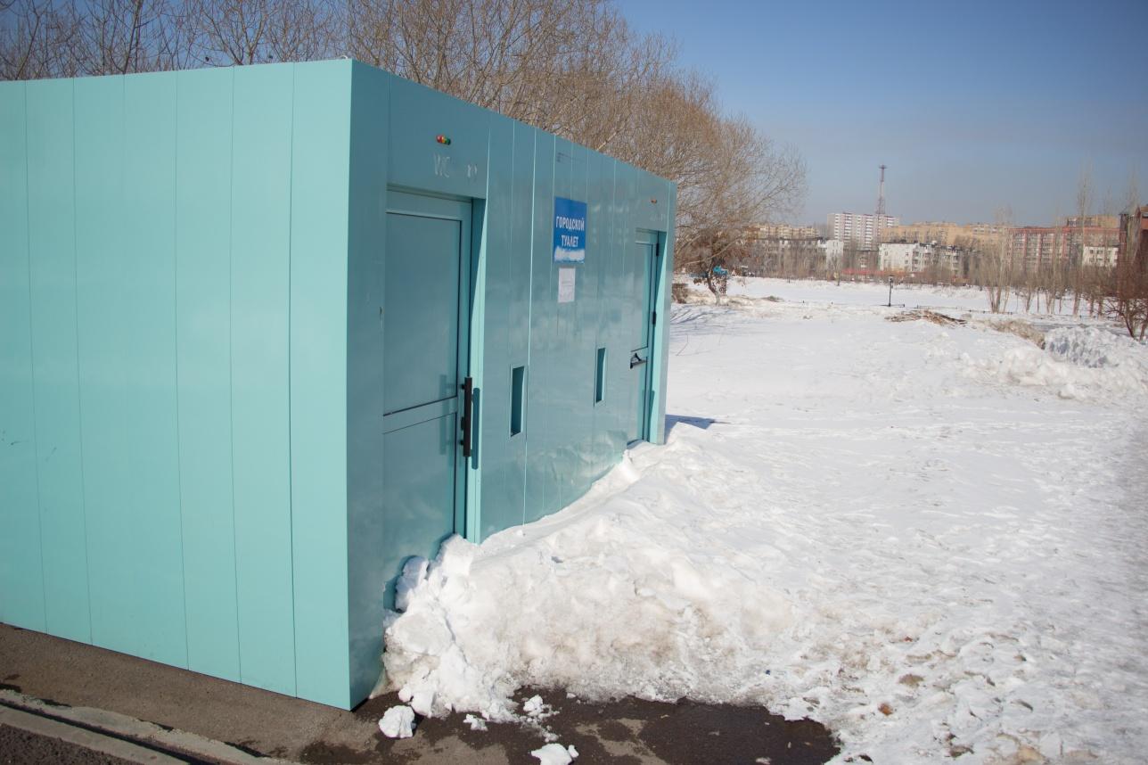"Туалет у монумента ""Отан коргаушылар"""