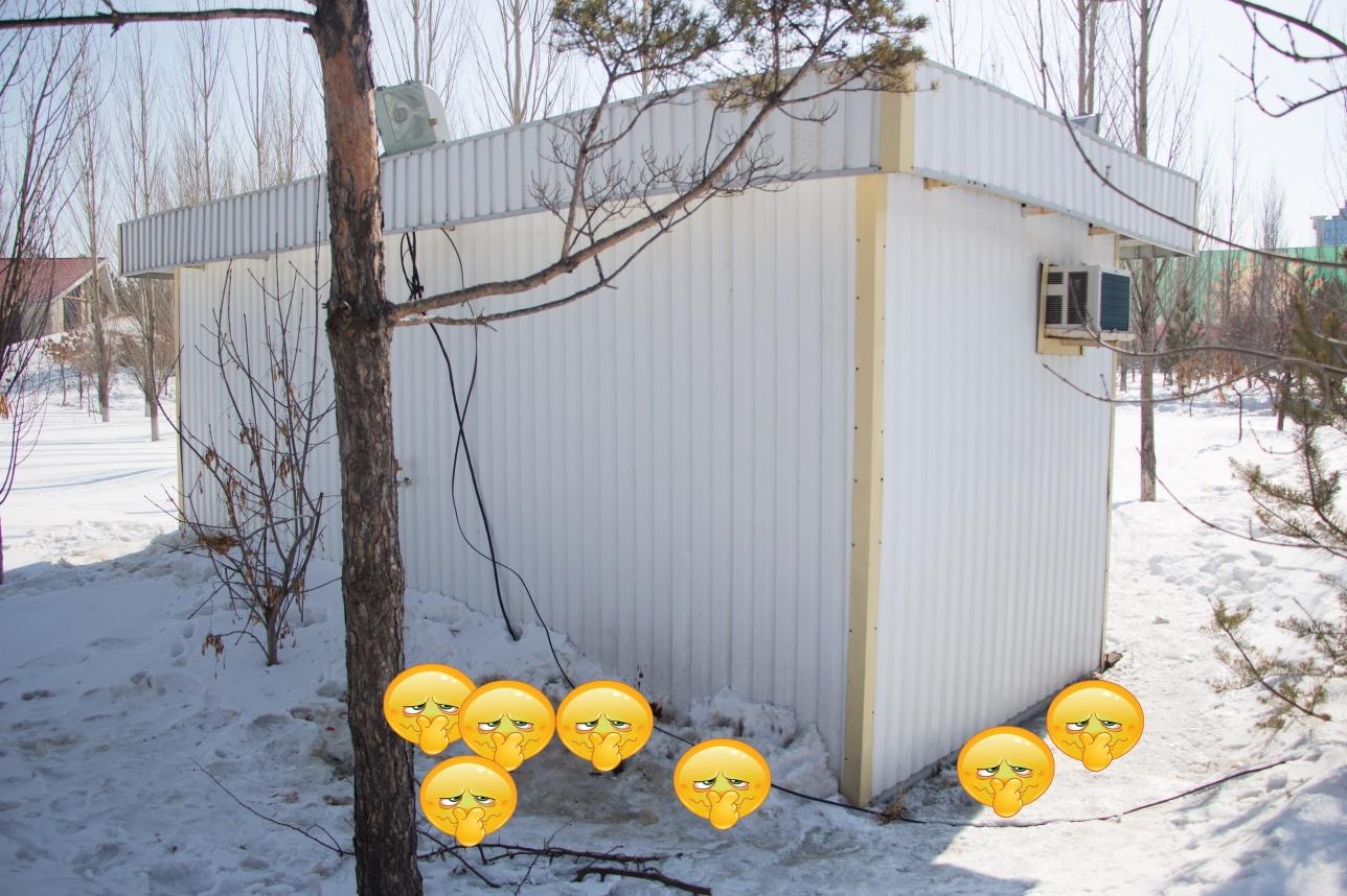 """Туалет в парке """"Жеруйык"""""""