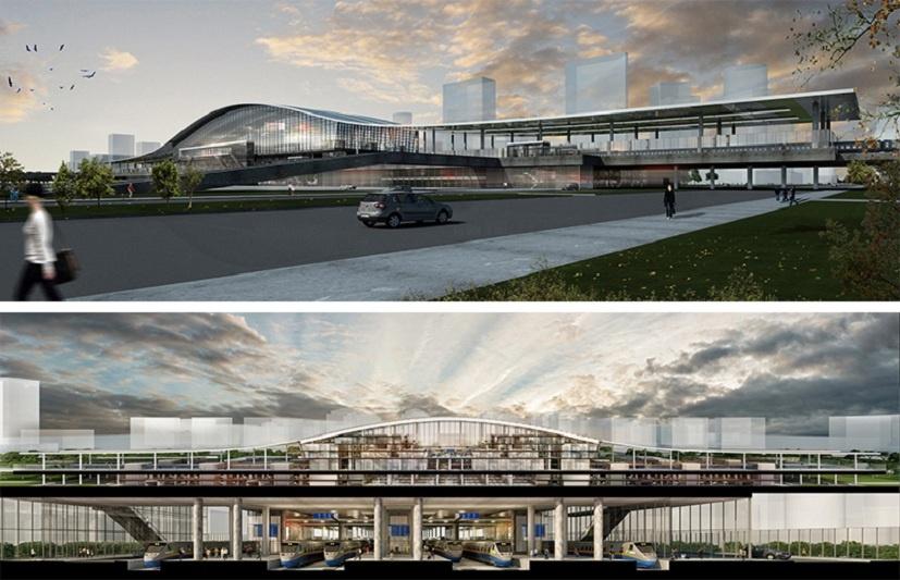 Эскиз нового вокзала