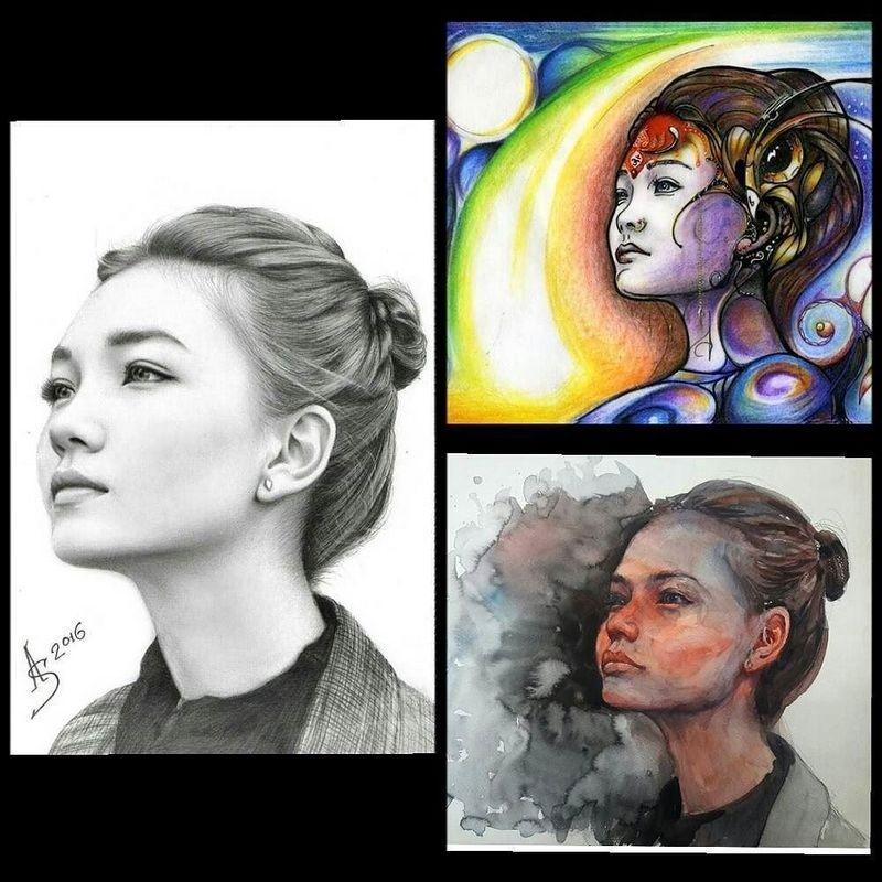 Портреты художников из Алматы, Атырау и Москвы