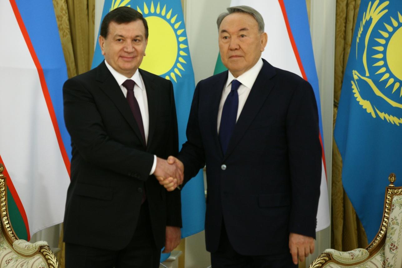 Встреча Нурсултана Назарбаева с Шавкатом Мирзиёевым