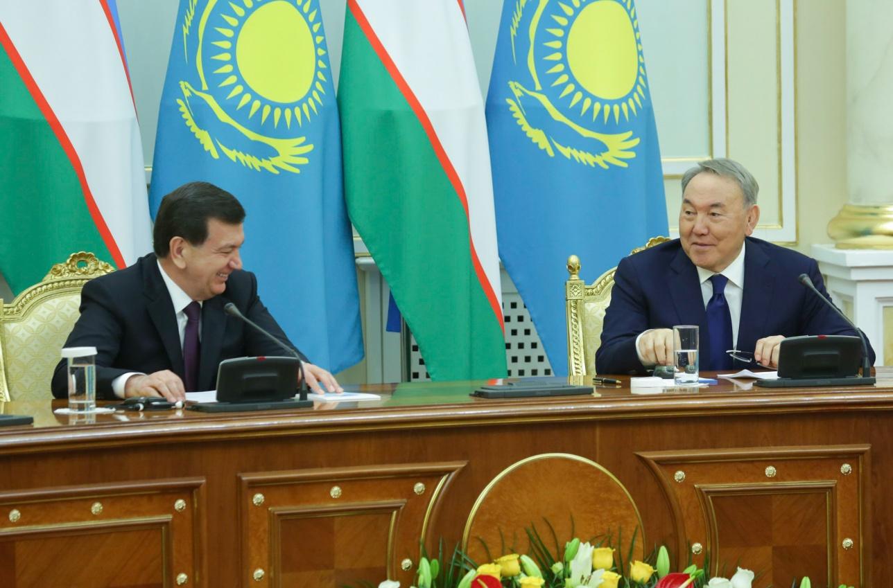 Совместное заявление президентов Казахстана и Узбекистана