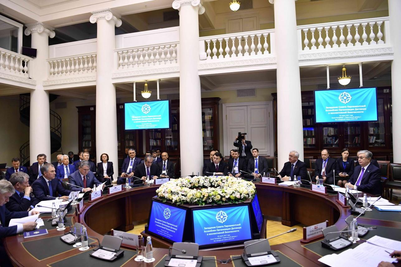 Заседание Совета парламентской ассамблеи ОДКБ прошло 26 марта в Санкт-Петербурге