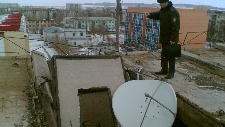 Обрушившийся участок крыши
