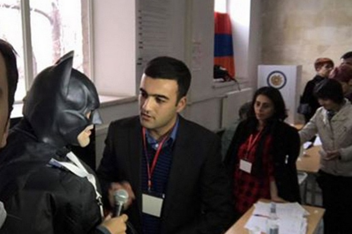Бэтмен был замечен на участке в Ереване