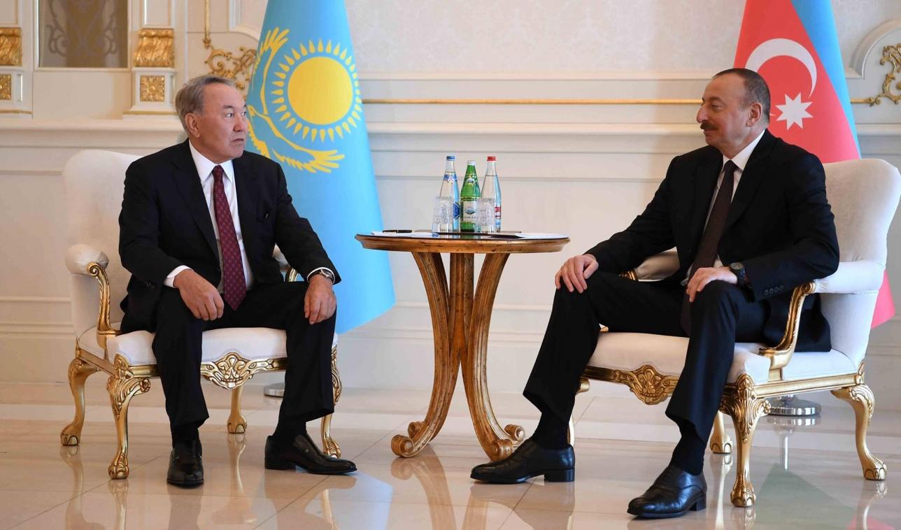 Нурсултан Назарбаев и Ильхам Алиев в Баку