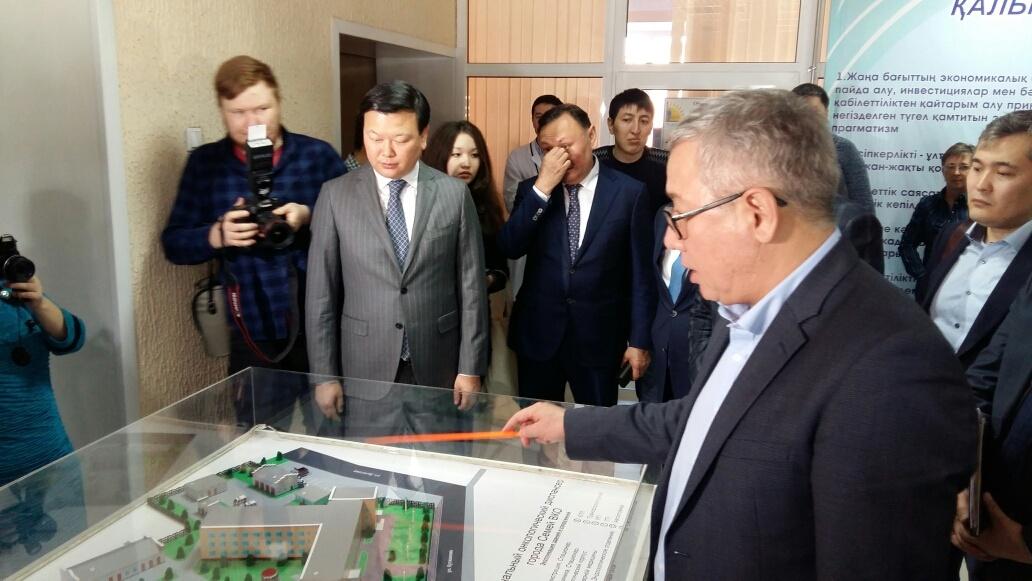 Центр ядерной медицины посетил Алексей Цой