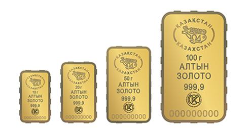 Образец упаковки золотого слитка весом 50 гр.