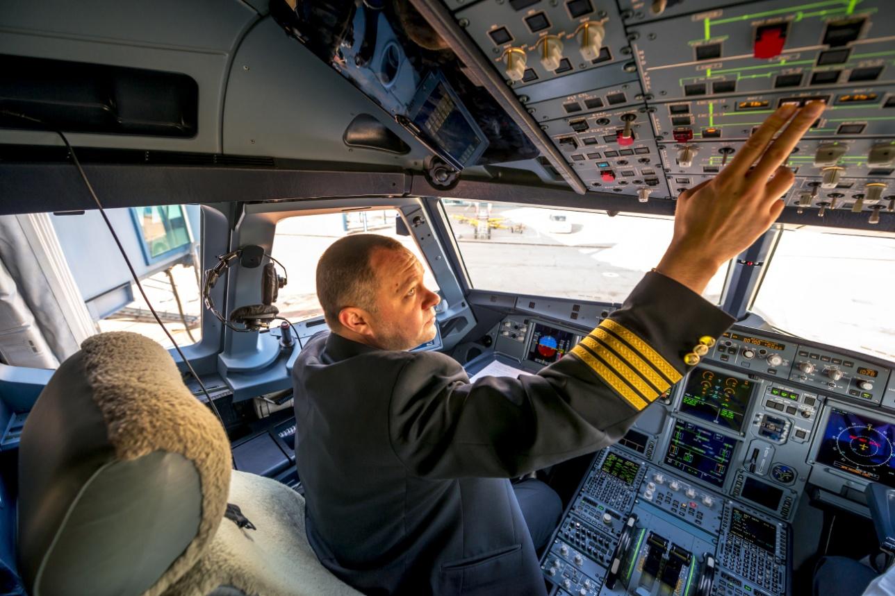 A320neo перед отправлением в по маршруту