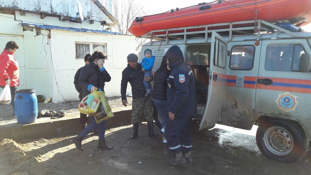 Актюбинская область, эвакуация людей