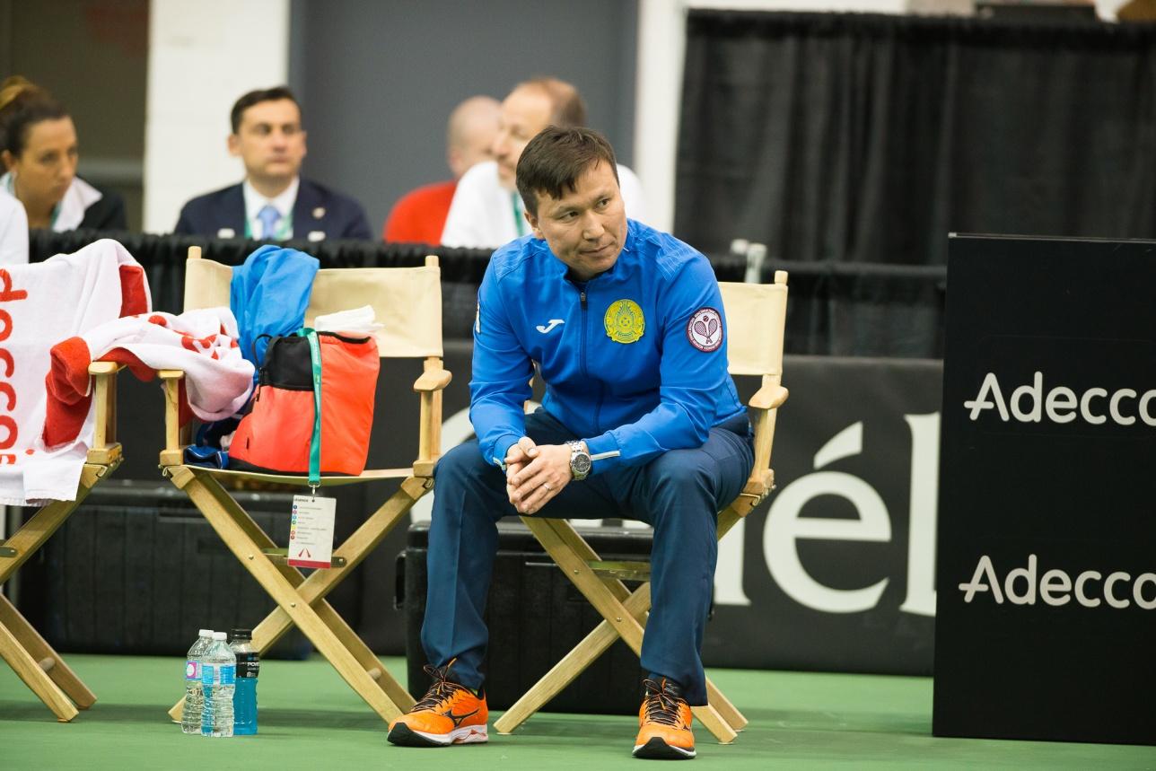 Капитан женской сборной Казахстана по теннису Диас Доскараев
