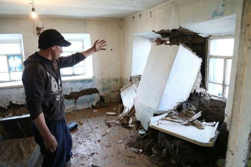 Последствия паводка в посёлке Зелёновка