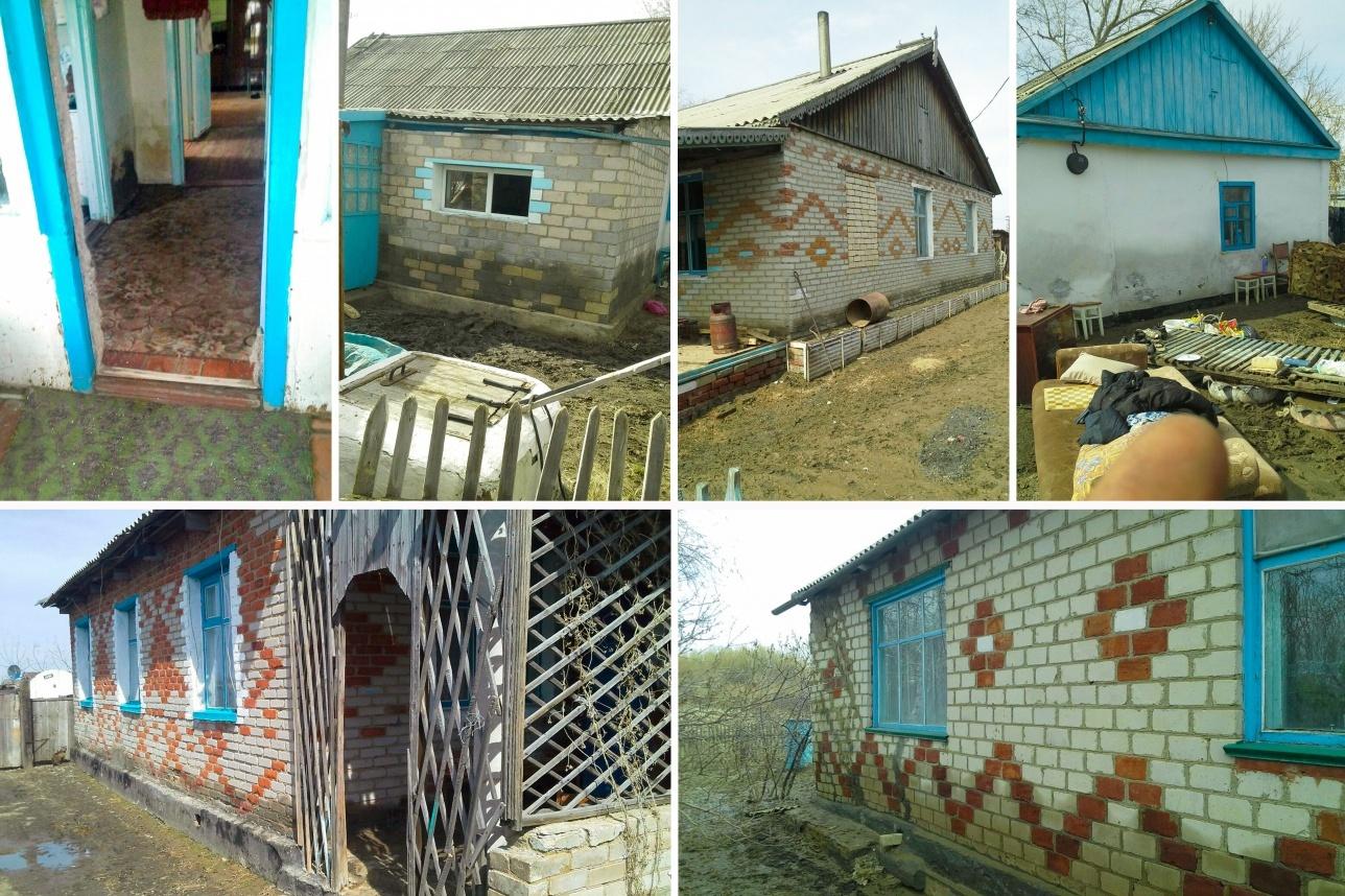 Затопленные дома посёлка Зелёновка