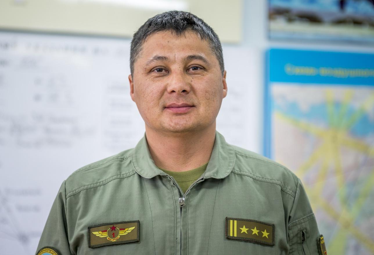 Командир Талдыкорганской авиабазы полковник Аскар Исбасов