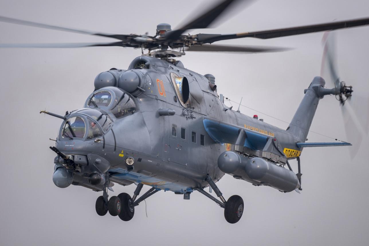 Ударный вертолёт Ми-35М Военно-воздушных сил Казахстана