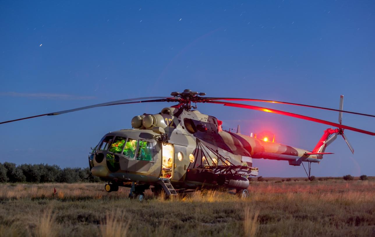 Транспортно-боевой вертолёт Ми-171 Ш Военно-воздушных сил Казахстана