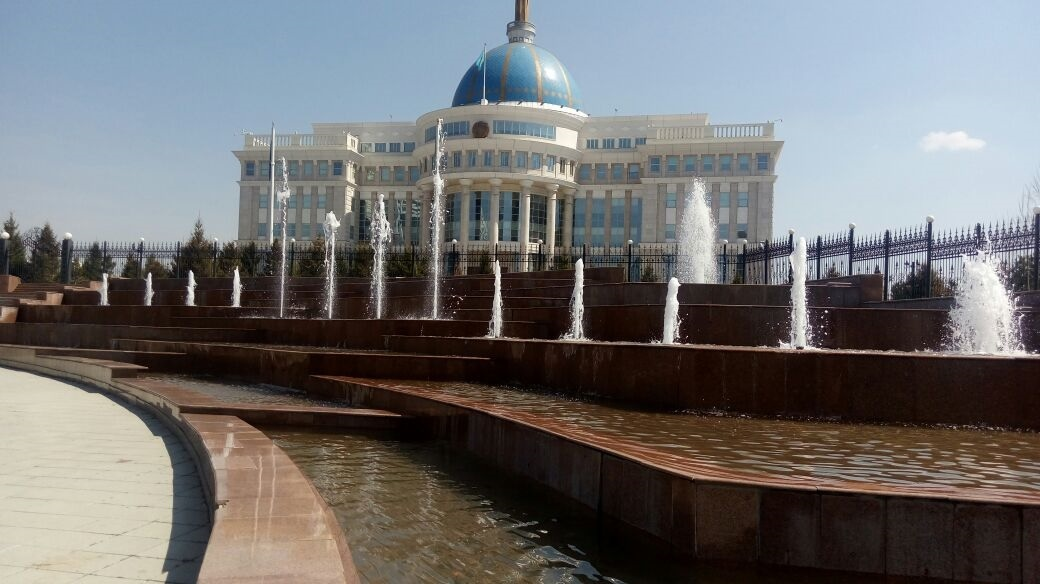 Комплекс фонтанов у Акорды после ремонта
