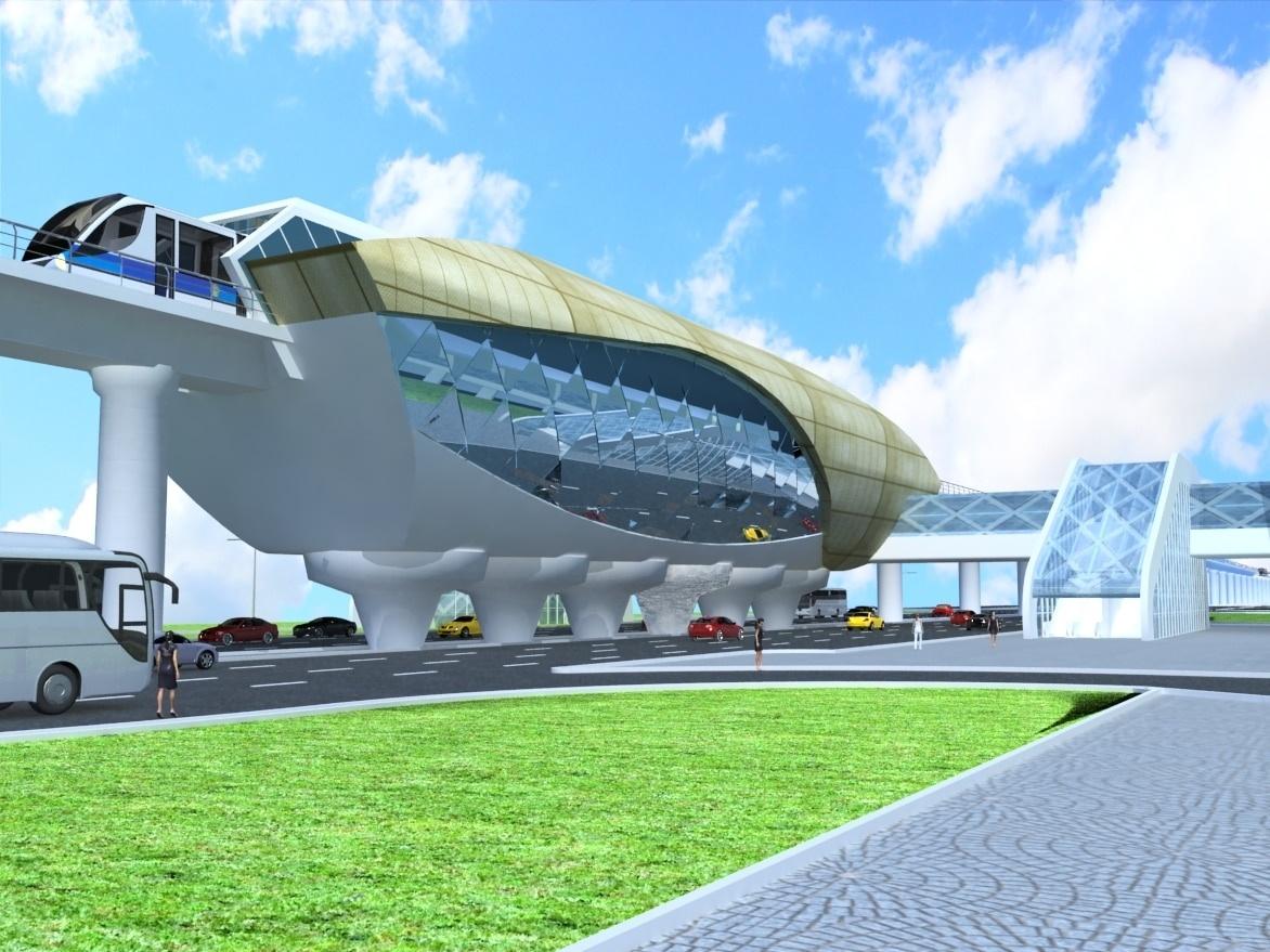 Проект легкорельсового транспорта в Астане - станция LRT