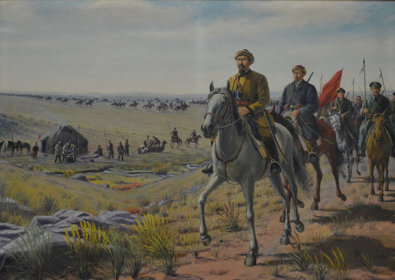 """Картина """"Войско Амангельды"""" Абильхана Кастеева"""