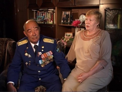 """Кара-майор"" Борис Керимбаев с супругой"