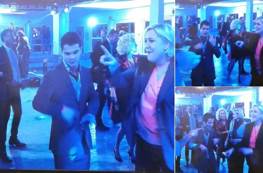 Марин Ле Пен устроила танцы со сторонниками