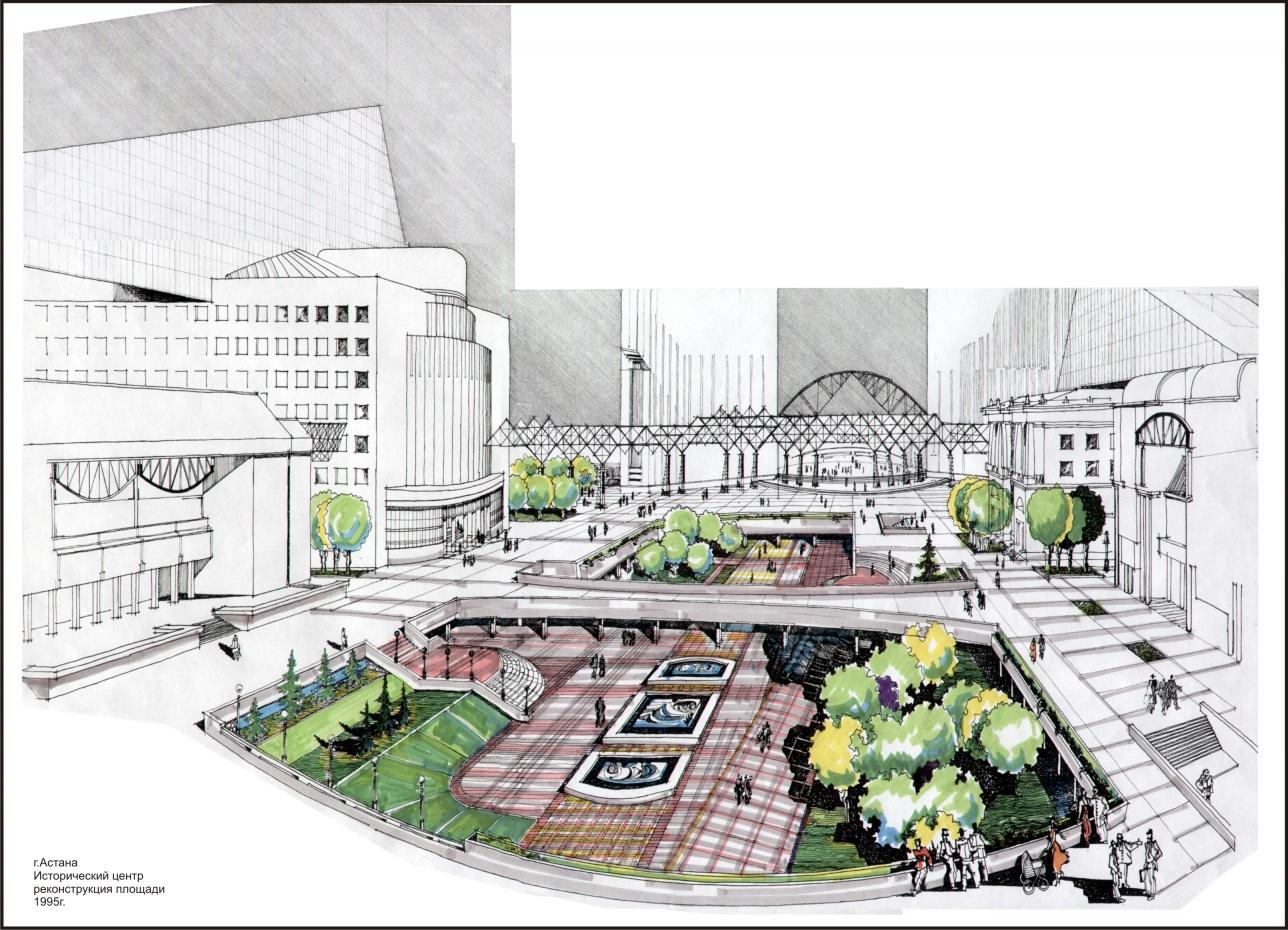 Проект реставрации центральной площади (1996 г.)